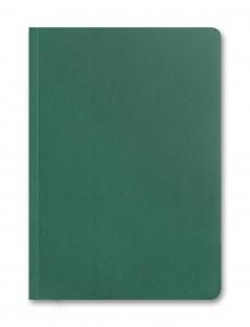 Branded-eco-biodegradable-notebook-Dark Green - Front