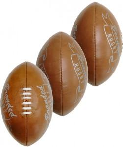 rugby balls vintage