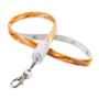 Smart 2-in-1 Lanyard with full colour print with built in charging cable