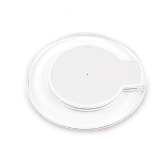 clear charging pad with white centre