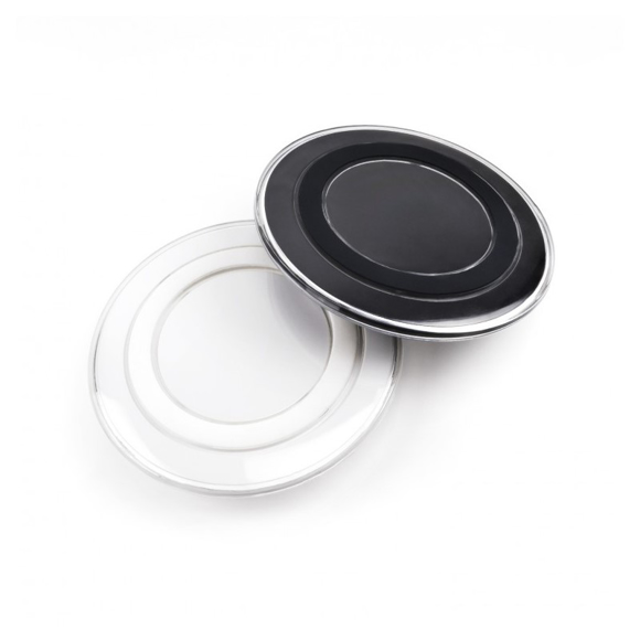 2 charging pads available in black or white