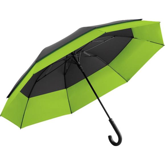 Stretch Golf Umbrella in black and green