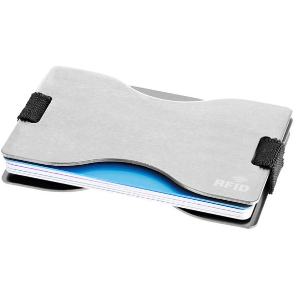 grey rfid card holder