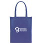 Blue non-woven shopper bag with print to one side