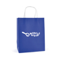 Ardville Medium Paper Bag in blue with white rope handles and 1 colour print logo