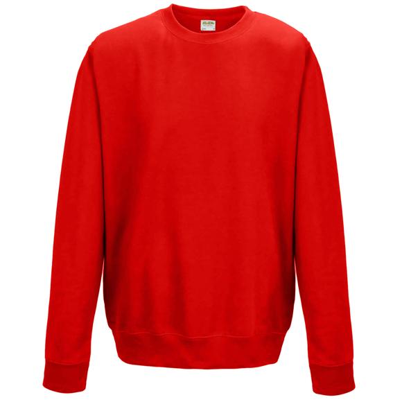 AWDis Sweatshirt in red with crew neck