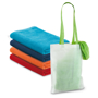 Beach towel in various colours and in a bag