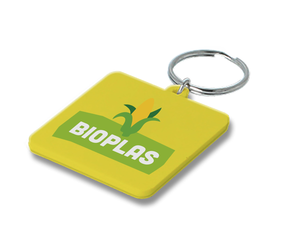 Picture of Bio-Plastic Square Keyring