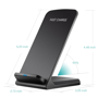 Black wireless charging stand