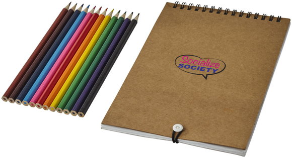colouring set with notebook