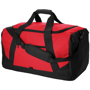 Columbia Travel Bag in red with black straps and details