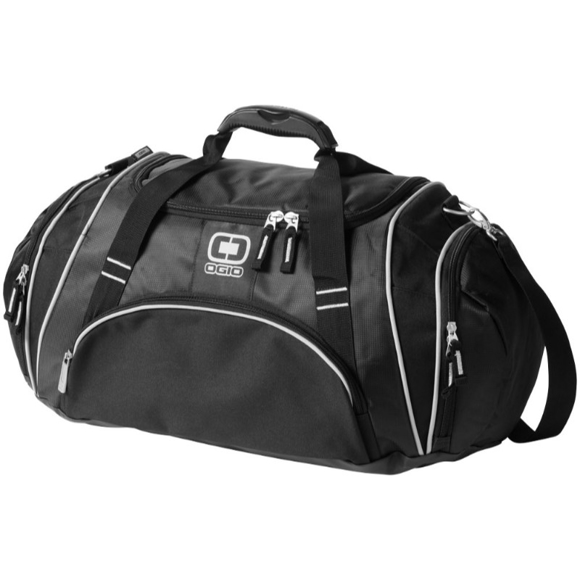 Crunch Duffel Bag in black with white details