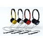 Crystal Headphones in various colours and fill colour print logos