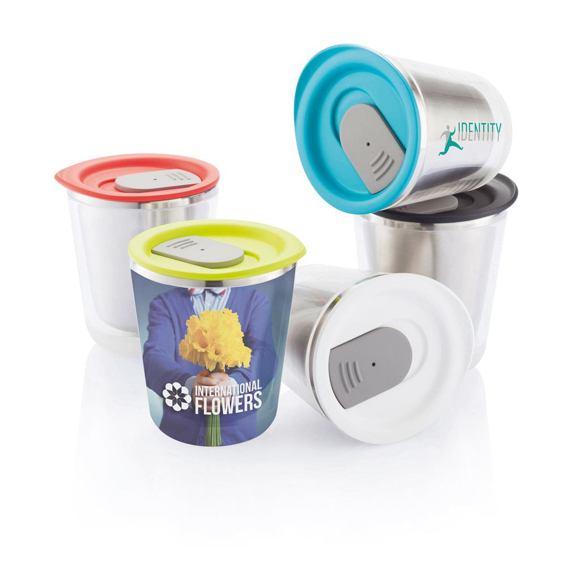 Small travel mug with lid colour options
