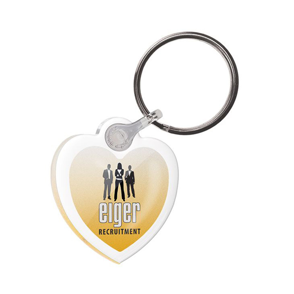 Domed Acrylic Keyring in full colour pint