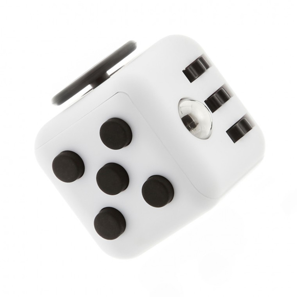 Black and white fidget cube