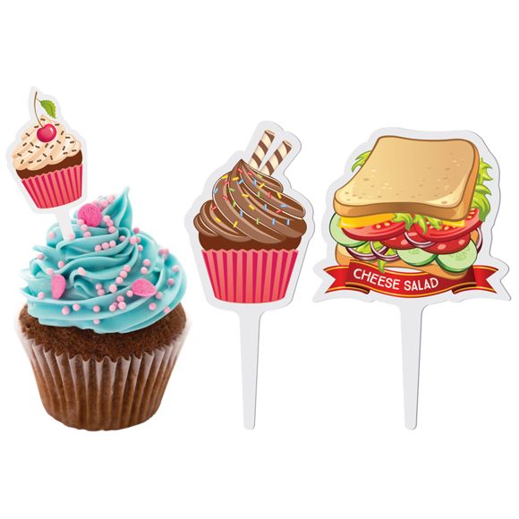 finger food flags with food designs