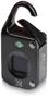 T10 fingerprint padlock in black showing front