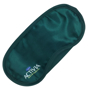 green polyester sleep eye mask with company logo