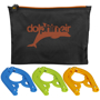 black pouch with three coat hangers
