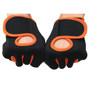 Gym Gloves in black with orange trim