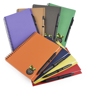a5 recycled wiro notepad in range of colours
