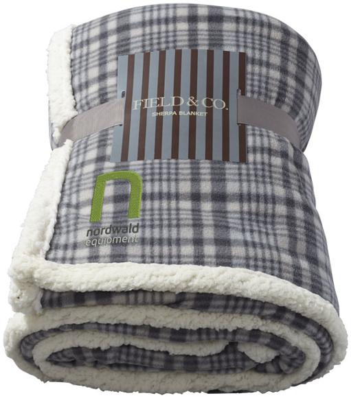 Joan sherpa plaid blanket in grey