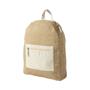 Jute fabric backpack