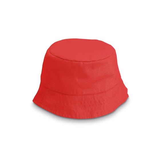 Kids bucket hat in red