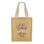 Natural jute bag with fabric handles to advertise your company