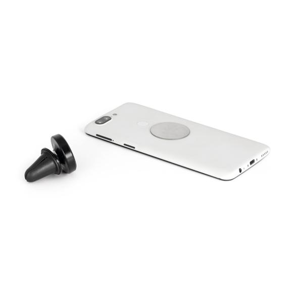 black magnetic car phone holder with phone display
