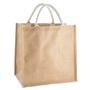 Large jute bag with short handles