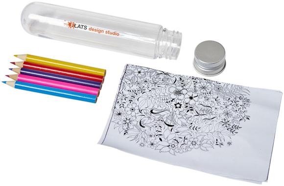 mini doodling set in tube unpacked