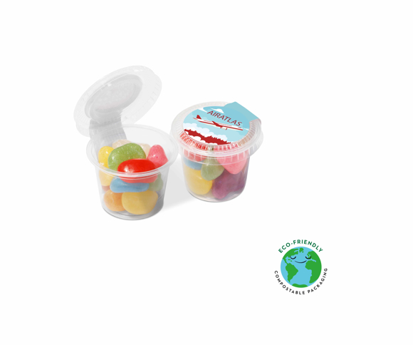 Mini sweet pot filled with jolly bean sweets