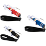 Mini Selfie Stick in red, blue and black with black straps