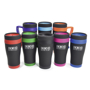 black oregon travel tumbler with coloured trim and handle