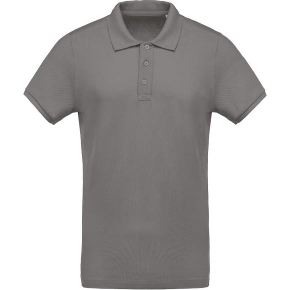 Organic Polo Shirt in grey
