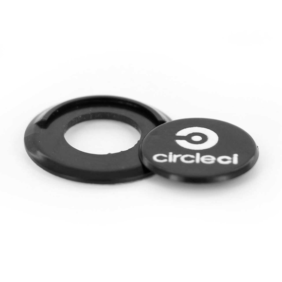 Peep Webcam Cover in black with 1 colour print logo