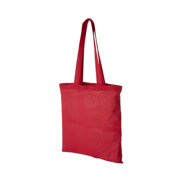Promotional cotton shopper bag in red