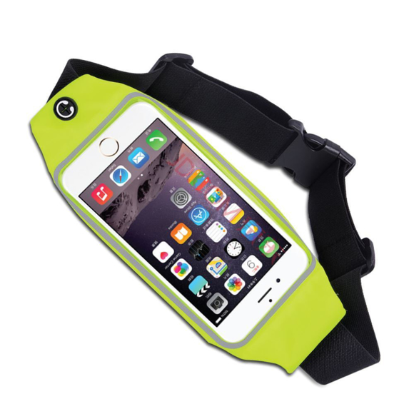 Running Belt With Phone Pouch -Yellow