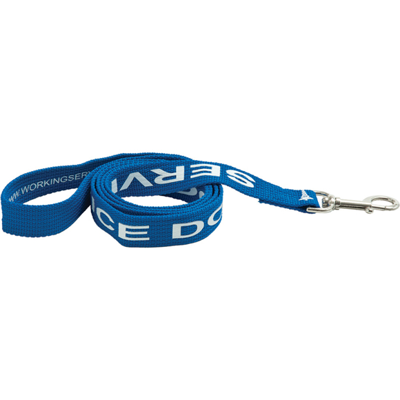 blue polyester dog lead