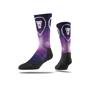 Premium Full Sub Socks with black sole, galaxy print and 1 colour print logo