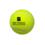 yellow tennis ball with 1 colour logo