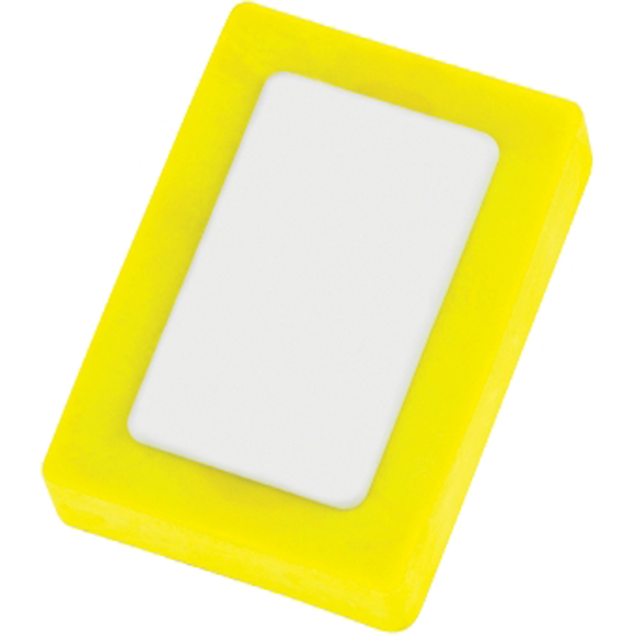 Rectangle Snap Eraser in yellow and white