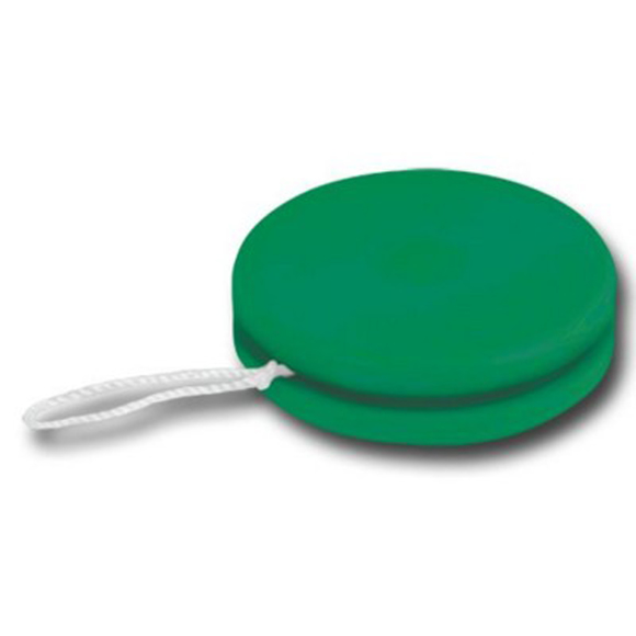 Recycled Plastic Yo-Yo in green with white string