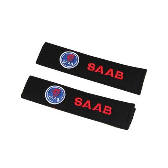 corporate branded seatbelt covers saab