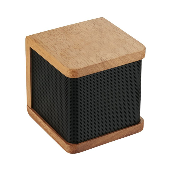 seneca bluetooth speaker with wooden casing and black speaker