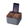 shae bluetooth speaker with a phone to the top