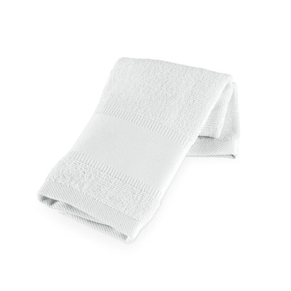 white small cotton gym towel