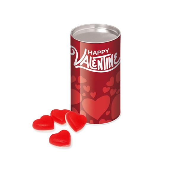 Red heart throb chewy sweets in a brandable tube